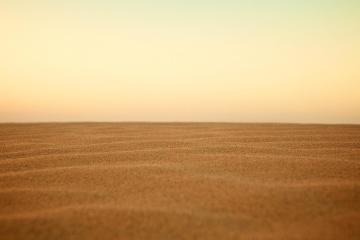 Coucher de soleil, paysage, dunes de sable, sable, ciel