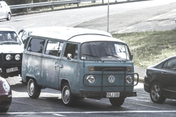 Vehículo, coche, asfalto, camino, calle, oldtimer
