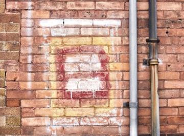 Parete, mattone, cemento, vecchio, architettura, metallo, oggetto, esterno