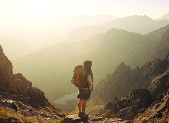 cliff, adventure, mountain peak, mountain, hike, landscape, people, exploration