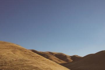 desert, landscape, mountain, wasteland, sky, sand dune, sand