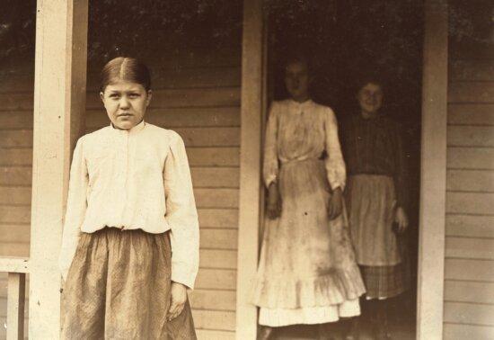 portrait, people, child, portrait, history, girl, woman, monochrome