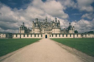 Архитектура, экстерьер, замок, памятник, летнее, ориентир, облако, газон, ориентир