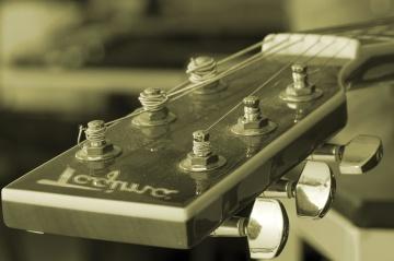 utstyr, gamle, musikk, instrument, lyd, gitar, teknologi, klassisk, nostalgi, monokrom