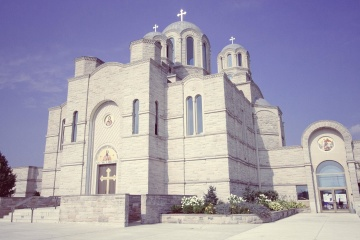 orthodox church, landmark, architecture, religion, exterior, sky, monastery