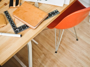 Madera, muebles, silla, dentro, asiento, escritorio, oficina, lugar de trabajo