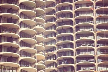 architecture, building, exterior, balcony, urban, design, modern