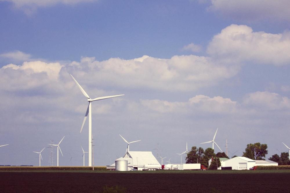 generátor, vietor, energie, elektriny, turbíny, alternatíva, obloha, ekológia