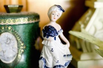 Porcelaine, décoration, art, figurine, sculpture, vieux, rétro, jouet