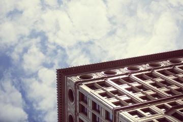 екстериор, небе, сграда, архитектура, града, прозореца, строителството, облак, градски