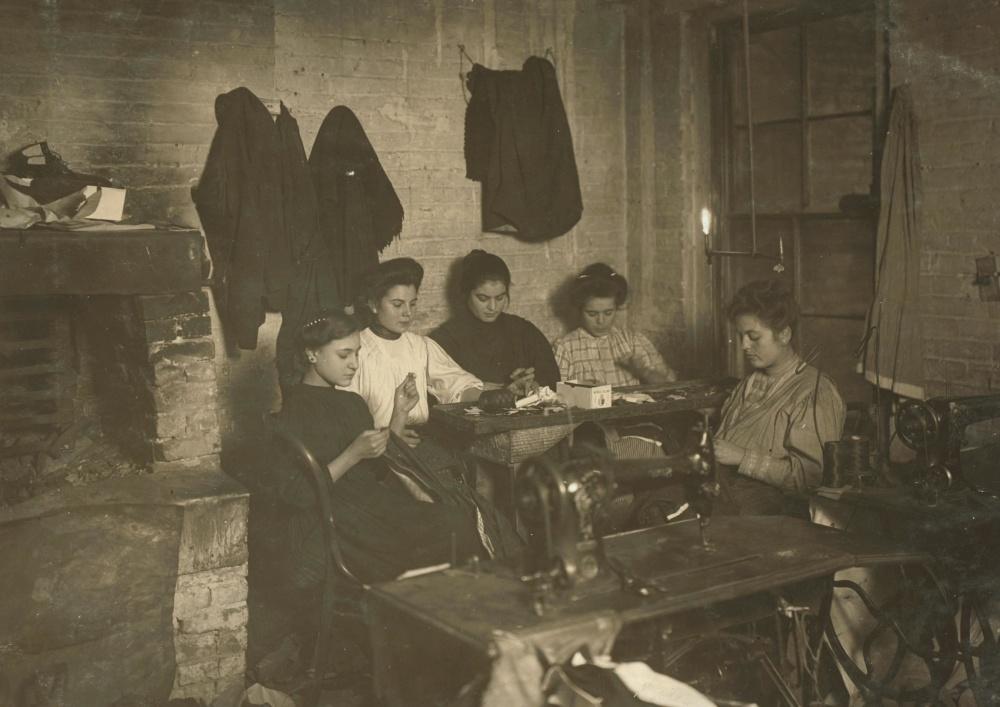 Personnes, femmes, jeunes filles, histoire, travail, employé