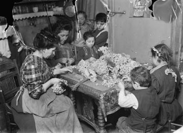 Personnes, enfants, travail, artisanat, employé, histoire, vieux, monochrome