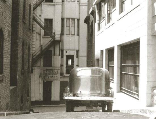 street, history, car, oldtimer, street, asphalt, exterior, town, monochrome