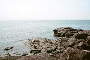 Meer, wasser, strand, küste, ozean, landschaft, himmel, küste, ufer
