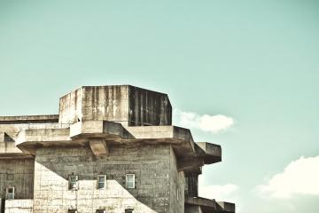 arkitektur, betong, eksteriør, himmelen, gamle, gamle, byen, monument