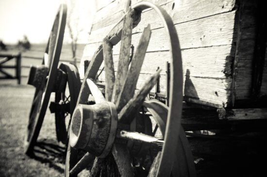 monochrome, wheel, vehicle, carriage, old, history, transport
