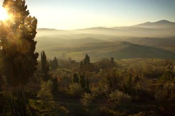 ηλιοφάνεια, τοπίο, βουνό, ηλιοβασίλεμα, ομίχλη, αυγή, δέντρο, φύση, κοιλάδα