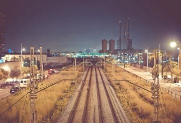 Bahnhof, Eisenbahn, Stadt, Architektur, Stadtbild, städtisch, Innenstadt
