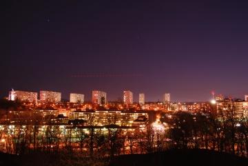 Stadt, Architektur, Stadtbild, Dämmerung, Innenstadt, Himmel, städtisch