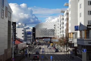 Arquitectura, ciudad, negocio, moderno, cityscape, urbano, calle, céntrico, fachada, exterior