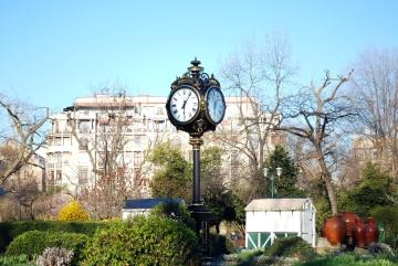 clock, park, urban, town, exterior