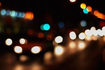 fokus, disco, opplyst, natt, fargerike, luminescence