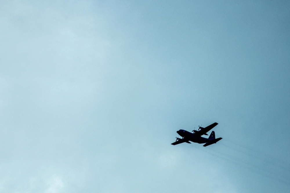Avion, silhouette, avion, véhicule, ciel bleu, vol