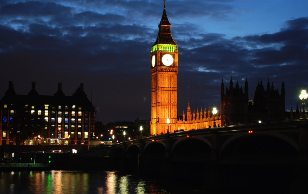 Architektur, Stadt, Fluss, Brücke, Dämmerung, England, London, Nacht, Turm, Innenstadt