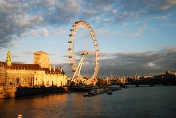 City, vand, England, flod, bro, arkitektur, sky, urban, cityscape