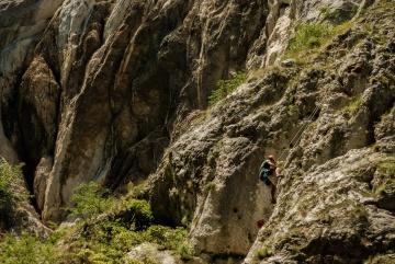 βουνό climbining, Αθλητισμός, βουνό, πέτρα, φύση, τοπίο, βράχο, φαράγγι