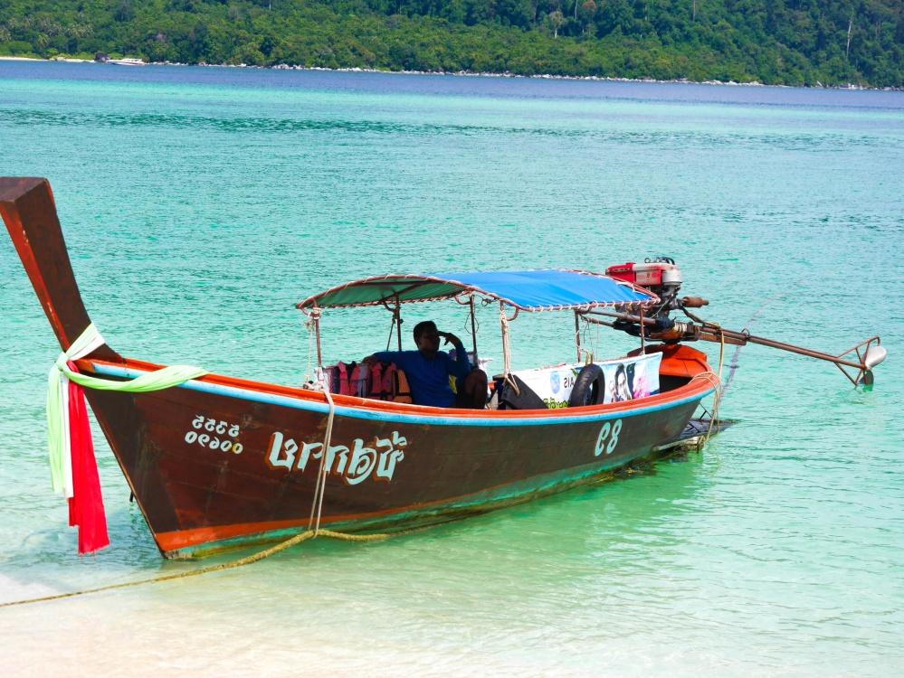 water, waterscooters, boot, zee, schip, tropic, landschap, reizen