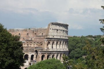 archeology, colosseum, exterior, architecture, ancient, old, Italy, tourist attraction