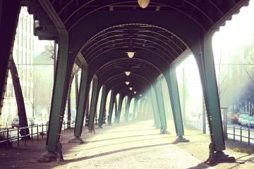 architecture, bridge, arch, construction, steel, dark, iron, shadow, road