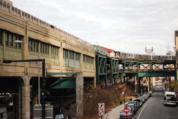 Chemin de fer, route, entrepôt, extérieur, véhicule, architecture, ville, rue, voiture, asphalte