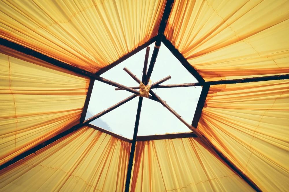 slunečník, objektu, dřevo, tvar, dekorace, design