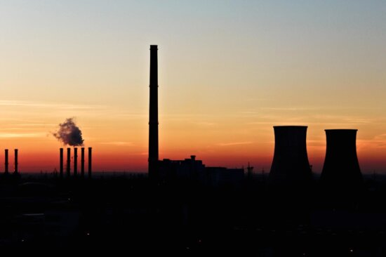 silhouette, pollution, smoke, sunset, city, industry, smog, condensation, factory