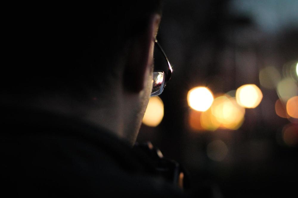 osoby, człowiek, ciemny, Okulary, cień, światło, spotlight