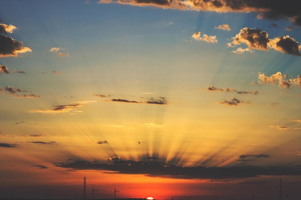 залез, слънце, зората, небе, пейзаж, облак, изгрев