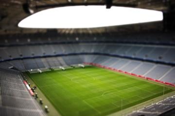 Miniatura, juguete, estadio de fútbol, fútbol, competencia, fútbol, estructura