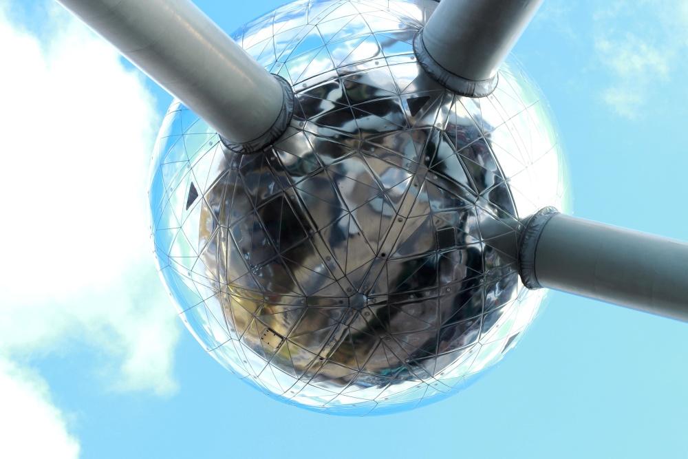 technologie, object, blauwe hemel, vorm, bouw