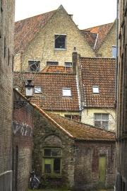 Arquitectura, casa, viejo, pared, exterior, techo, rural