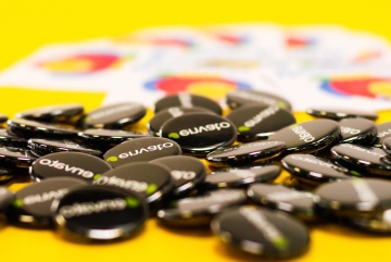 badge, materiale, reklame, plast, marketing, kommercielle