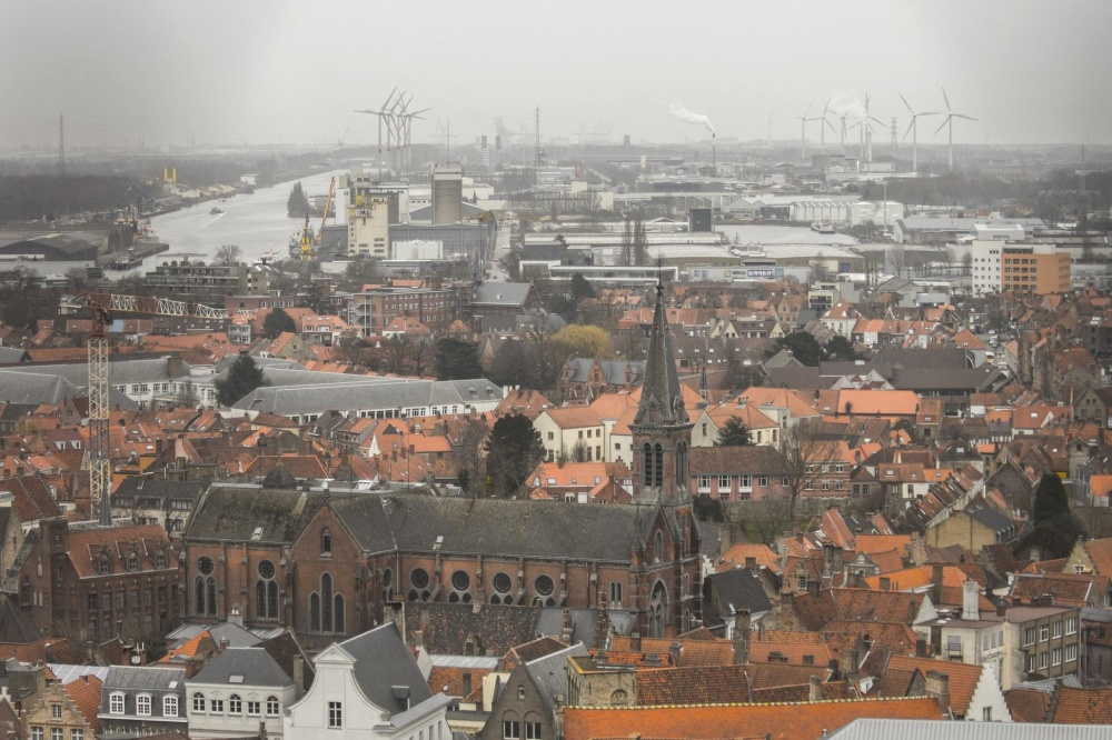 city, wharf, architecture, cityscape, town, roof, church, house, exterior, downtown