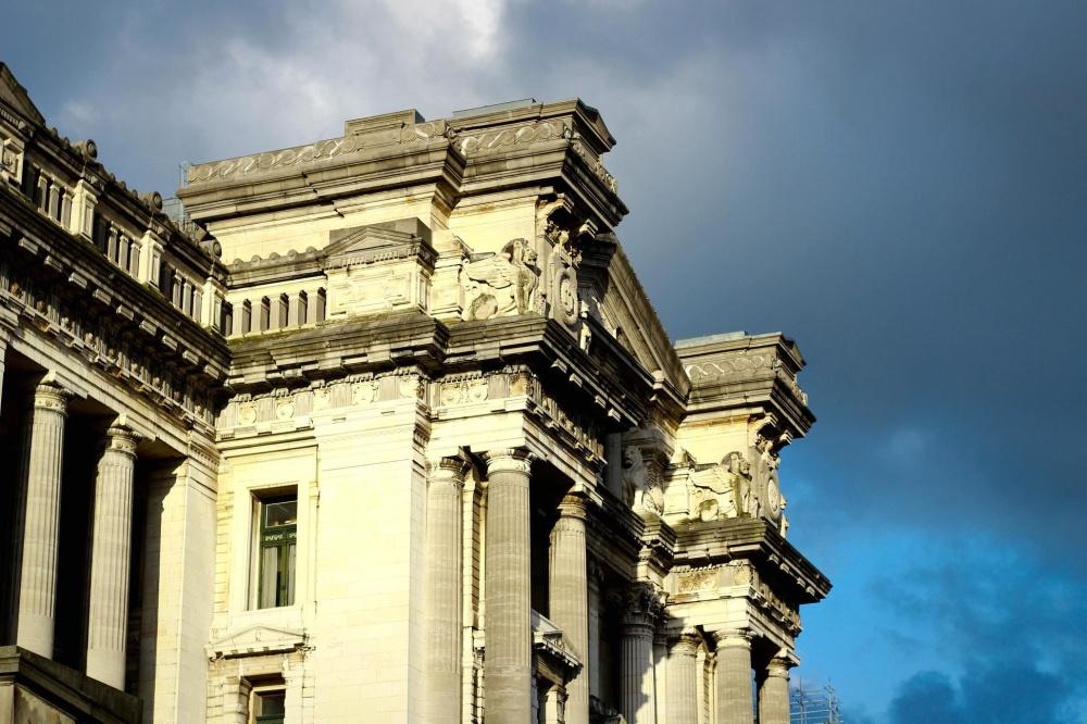 Architektura, niebo, elewacji, na zewnątrz, miasto, stary, starożytne, rzeźba, pomnik, kamień