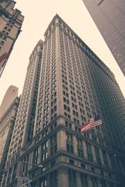Edificio, bandera, torre, fachada, exterior, arquitectura, ciudad, empresa negocio, céntrico