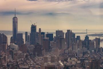 ダウンタウン、都市の景観、建築事務所、都市市