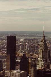 Città, architettura, città, torre, città, industria, inquinamento, smog