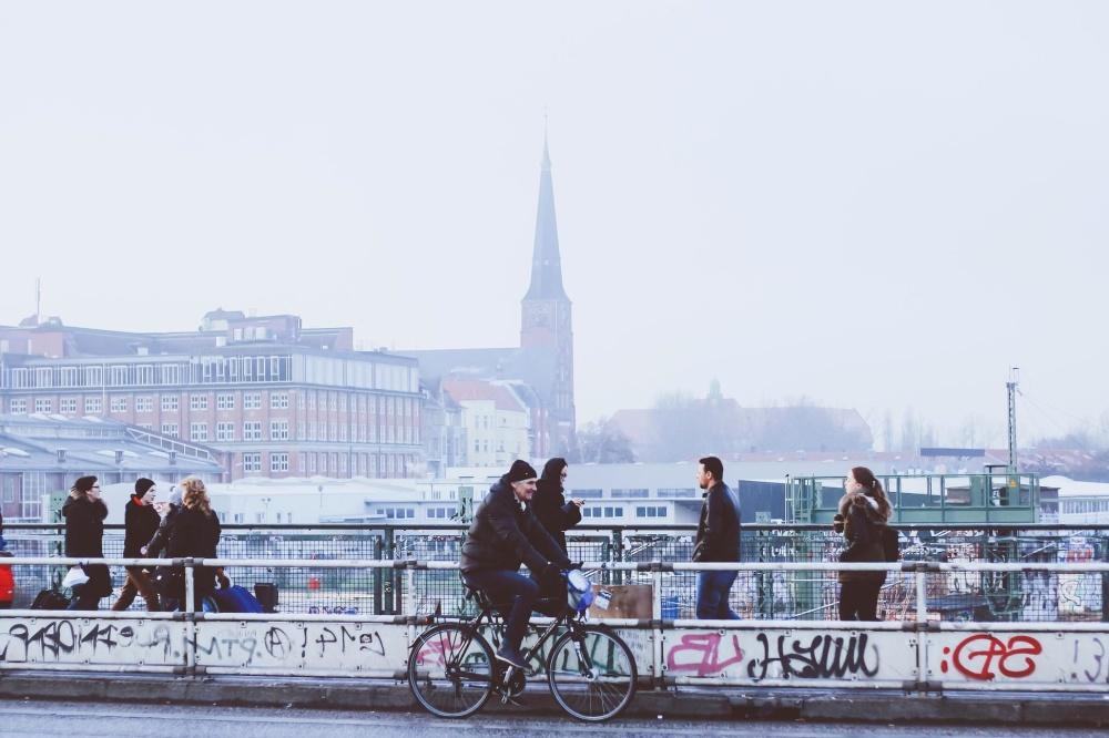 oameni city, vehicul, mulţimea, biciclete, oraş, urban, stradal