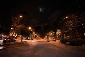 street, light, road, city, night, sky, dark