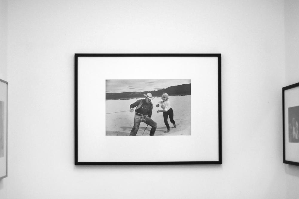 üres, művészeti múzeum, kép, keret, fekete-fehér, falra